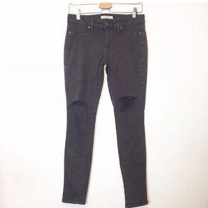 Rich & Skinny Gray Distressed Skinny Jeans